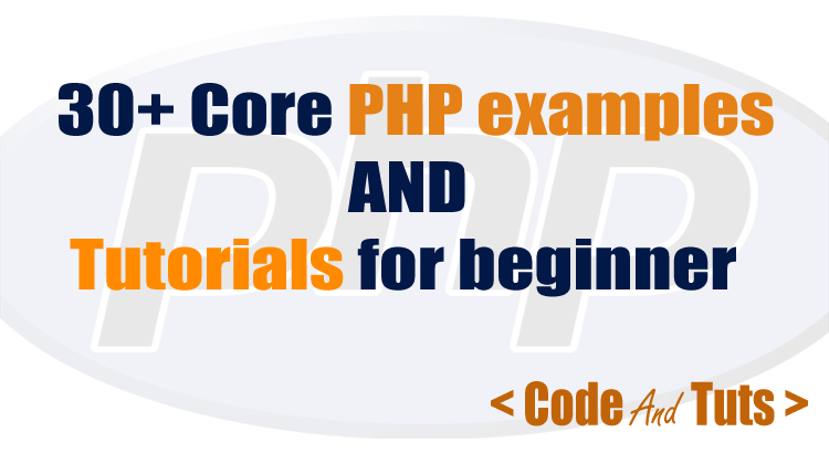 corephp example and tutorial for beginner