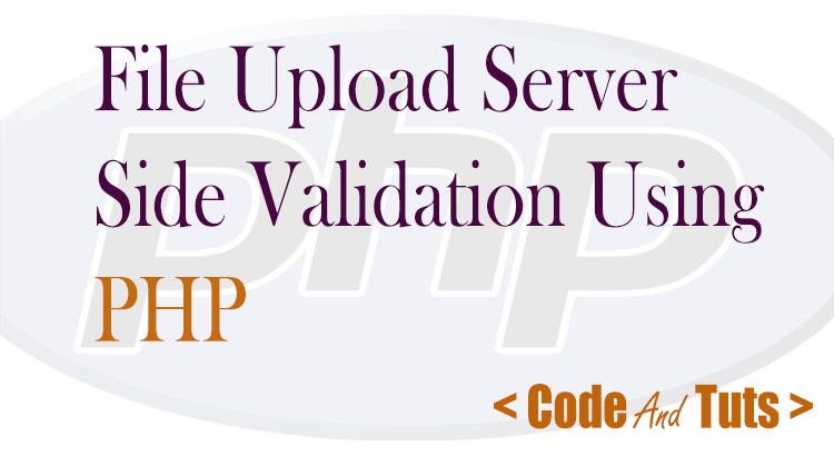 file upload validation in PHP