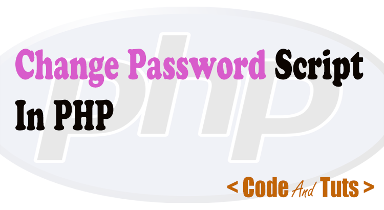 php change password script