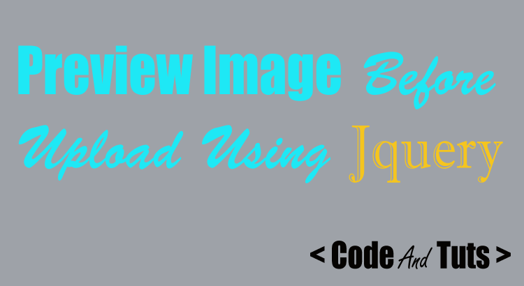 image preview before upload using jQuery php