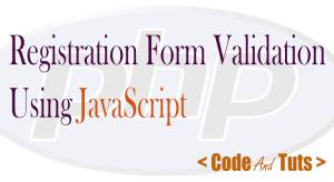 registration form validation using javascript