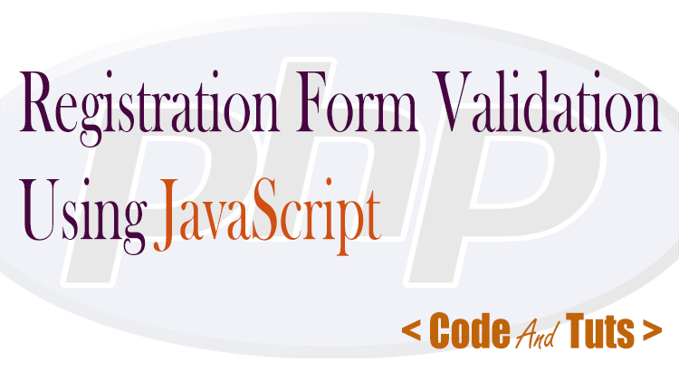 registration form validation using javascript