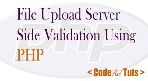 file upload validation in PHP