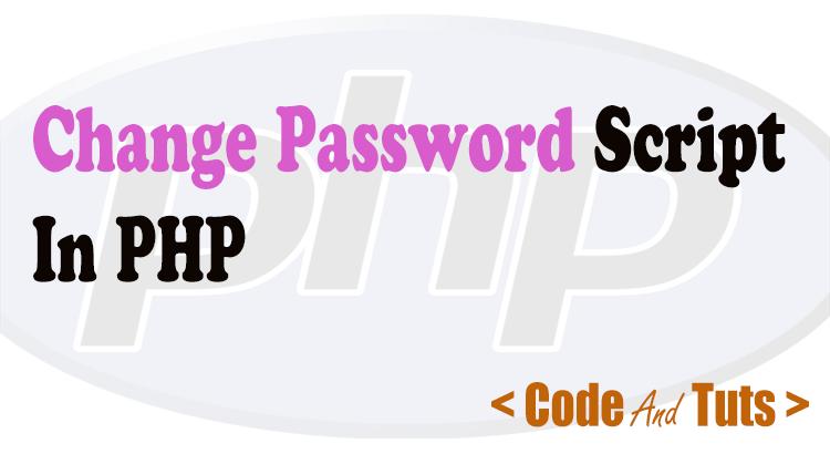php change password script