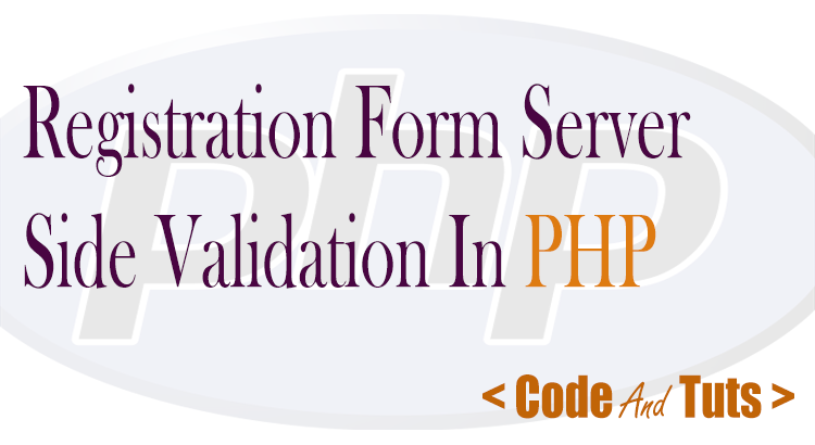 registration form server side validation php