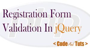 registration form validation using jquery