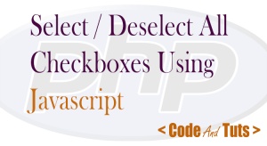 JavaScript select deselect all checkbox