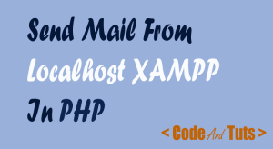 php send email using xampp localhost