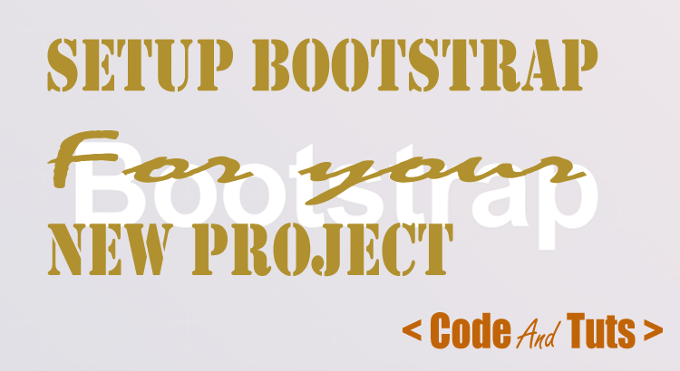 setting up bootstrap with new project