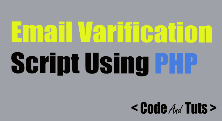 registered user's email verification script