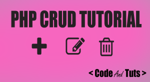 php crud tutorial operation