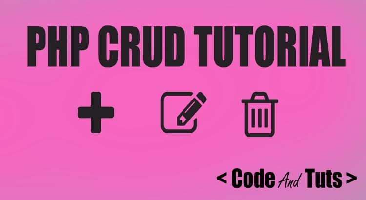 php crud tutorial operation