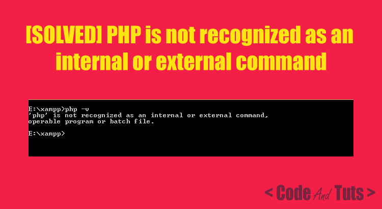 PHP-recognized-internal-external-command