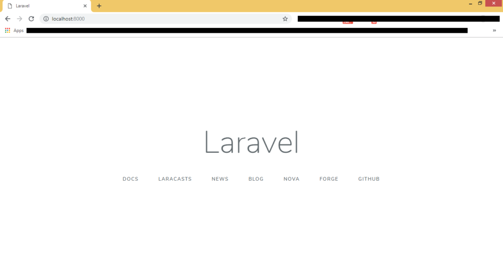 laravel-setup-successfull