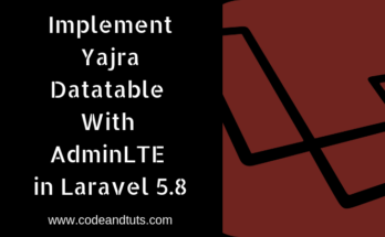 implement-yajra datatable in adminlte laravel