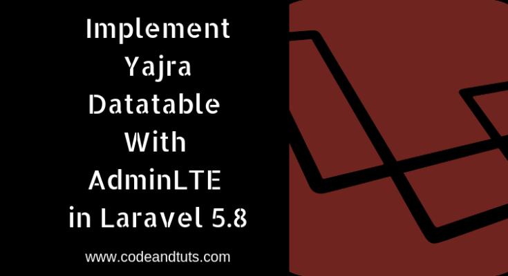 implement-yajra datatable in adminlte laravel