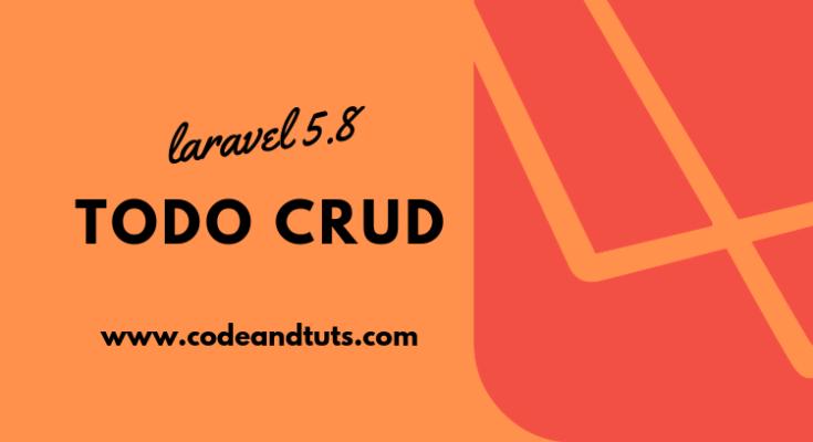 laravel-5.8-todo-crud